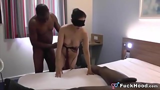 Husband Films Two Black Studs Fucking His Slutty Wife