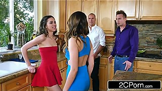 Whoring Wives Melissa Moore &_ Riley Reid Swap Husbands at Dinner Party