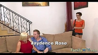 Husband and wife fuck the babysitter 177