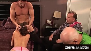 Wife Veronica Avluv Holds Hands with Hubby as She Fucks and Squirts
