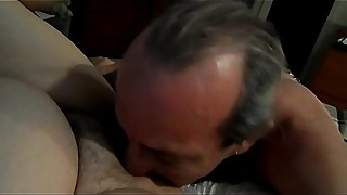 He breeds my wife - creampie eating