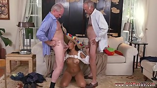 Jane fucks old man and old couple young bi guy and old slut wife and old