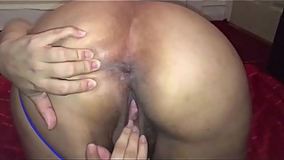 Hot Indian housewife playing with her pussy -POV