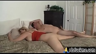 Sleepwalking son gets the milf pussy