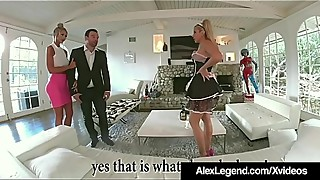 French Maid Savana Styles Fucks Hubby Alex Legend &amp_ Wife!