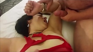 Hotwife Enjoys a Double-Dicking By two men