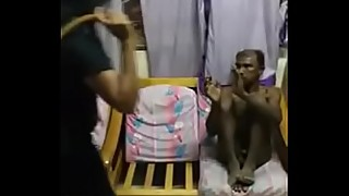 Cheating husband caught and punished by wife and relatives