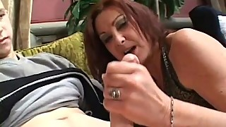 Mature Brunette MILF Sucks, Fucks and Swallows