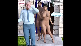 3D Comic Wife Cheats & Cuckolds Husband With Young Stud