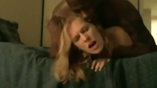 Amateur blonde Wife takes BBC from behind