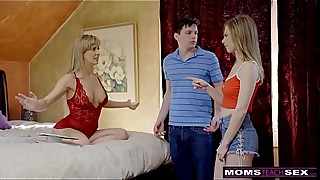 MomsTeachSex - Busty MILF Gets Hot Mother'_s Day Threesome! S8:E4