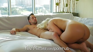 HD PureMature Housewife with big tits loves to eat cream