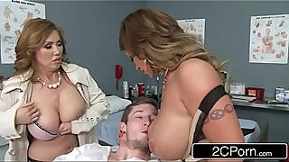 Mistress Kianna Dior &_ Wife Eva Notty Having a Blowjob Competition in the E.R.