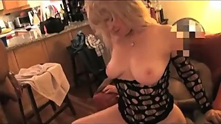 51 year old Latina blonde wife enjoying BBC while sucking off hubby