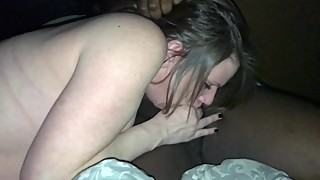 Pregnant wife deepthroats bbc hubby records