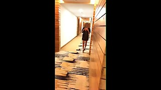hot indian wife dare video at 5 star hotel while hubby filming