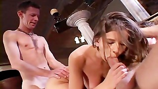 Crazy Threesome For Horny Swinger Wife