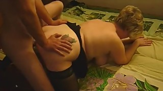 Husband let thin guy fuck his plump sexwife