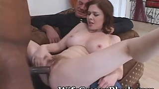 Legs Spread Wife For New Cock