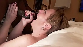 Wife sucks her husbands BBC