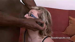 Gilf slut Aja barely fits this huge black dick in her holes