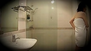Husband use hidden cam filming his cheating wife take shower with stranger