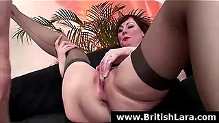 British dude films his MILF wife in high heels fucking another man