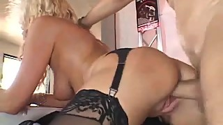Blonde Housewife Swinger Fucks Stranger