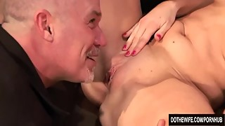 Wife Allison Moore Is Fucked Heartily by a Porn Stud as Her Hubby Looks On