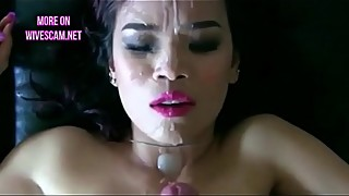 Compilation facials cum in mouth