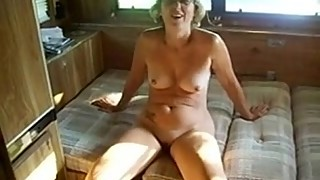 Ruthie fucks another stranger in a camper