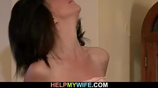 Old husband watches his wife rides stranger's cock