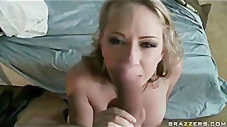 Big-tit blonde cheating wife strips then ass fucks guard - Brazzers
