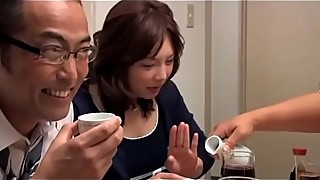 Japanese Drunk Wife get forced by 2 husband friends (Full: shortina.com/owM2Y)
