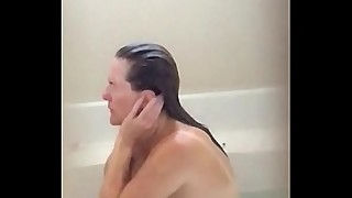 Sexy wife voyeured in bathtub