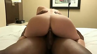 Big black dick breeds hot bitch wife blonde