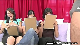 CFNM bitches testing out a cock