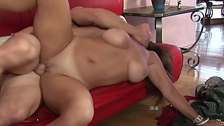 Cheating Wife Fucks Young Stud While Husband Is Away