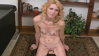 Kathy is a blond skinny Whore with small tits that likes toys