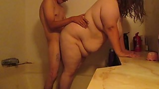 Cheating wife get fuck and cum in in shower b4 husband gets home